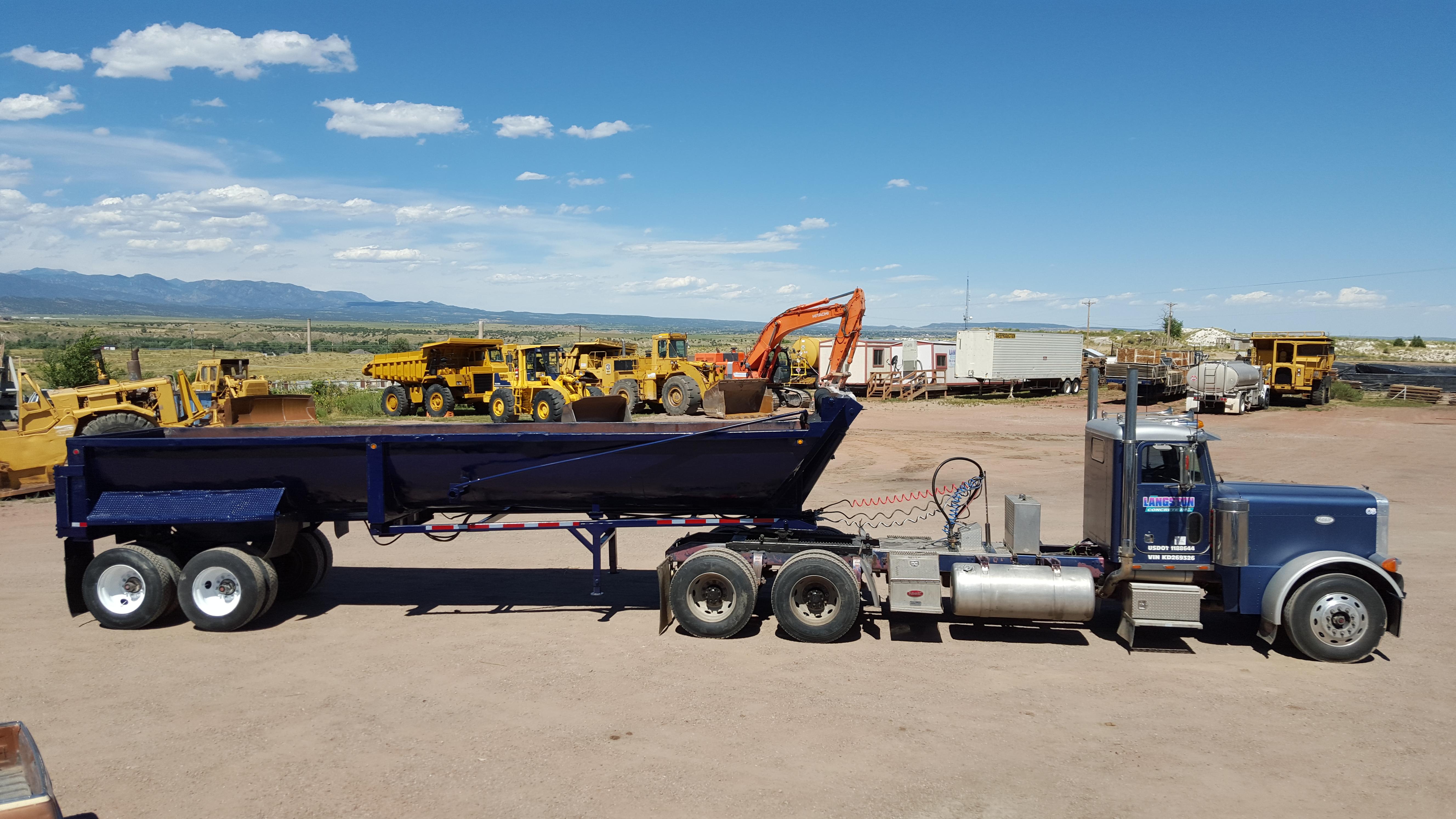 End Dump Truck >> Trucking Langston Concrete Inc